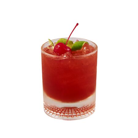 Negroni cocktail, Beautiful red cocktail, isolated on white background, with clipping path