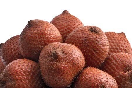 Salak fruit, Salacca fruit isolated on white background Archivio Fotografico