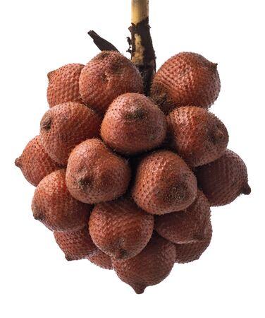 Salak fruit, Salacca fruit isolated on white background,