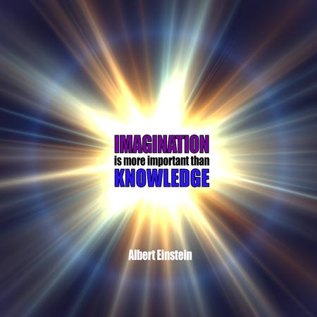 imaginacion: Famosa cita de Einstein sobre la imaginación y el conocimiento Foto de archivo