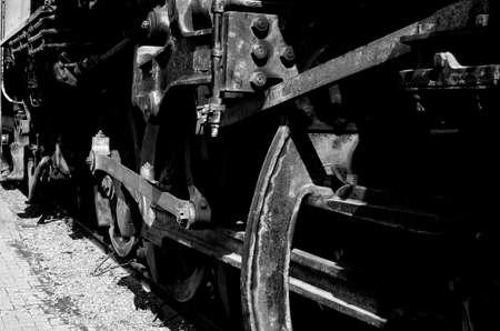 spiritless: The old train Stock Photo