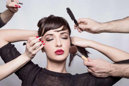 make up: Make up magic Stock Photo