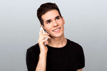 Man making a telephone call photo