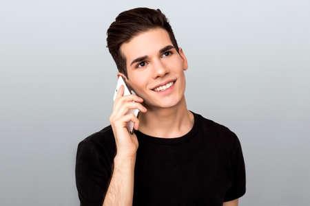 telephone call: Man making a telephone call