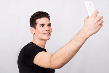 Man taking a selfie photo