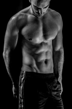 arts: Fitness male body Stock Photo