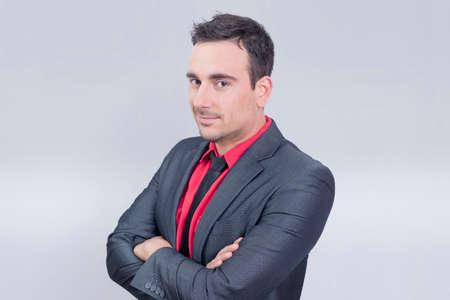 grabing: Salesman portrait