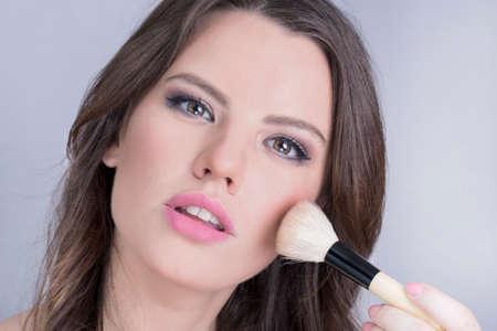 poses de modelos: Maquillaje Brunette