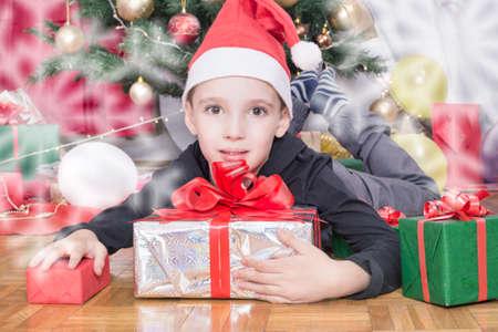 happy christmas: Happy kid on Christmas