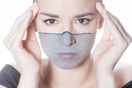 Woman face skin hydration Reklamní fotografie
