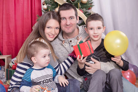 happy christmas: Happy family for Christmas