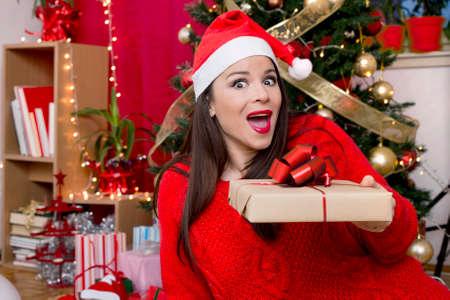 happy christmas: Happy girl for Christmas