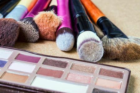 Makeup szczotki Zdjęcie Seryjne