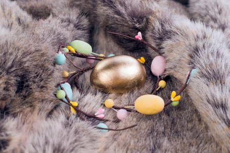 golden egg: Golden egg for Easter holidays