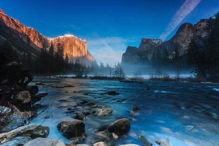 valley view: Tramonto a Valley View, Parco Nazionale di Yosemite