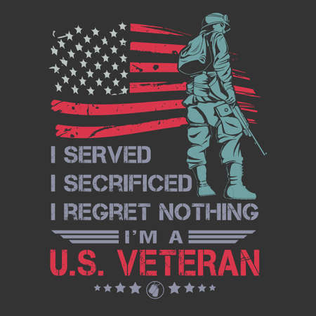 american veteran vector design Illustration