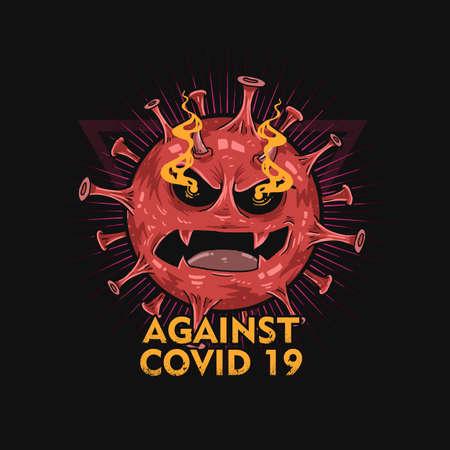 against the corona virus illustration vector