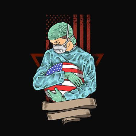 make America healthy again illustration vector 일러스트