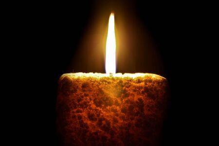 Candle, closeup shot Stock Photo