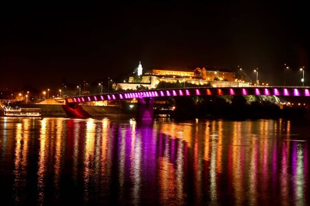 Petrovaradin fortress by night 5 Stock Photo