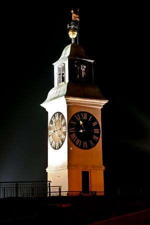 Old clock tower on the Petrovaradin fortress 5