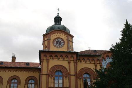 Old gymnasium building in Sr. Karlovci near Novi Sad in Vojvodina-Serbia.