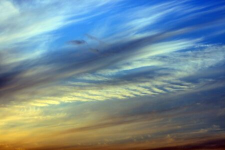 This is a sky in sunset, with beautiful color Stock Photo