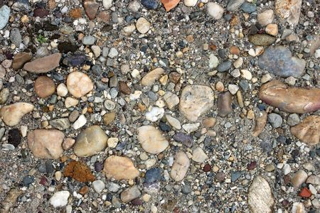 This is a closeup shot of gravel from river Danube, like nice background.