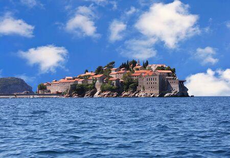 this is a Sveti Stefan, on the Montenegro coast Stock Photo