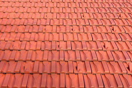 Dies ist ein Dachziegel, Vogelperspektive erschossen, wie sch�nen Hintergrund.