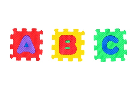 Letter A, B, and C, isolated on white background. Stock Photo - 8761582