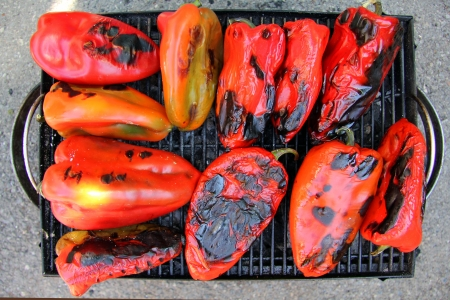 Red Peppers on the Grill, for some food background.