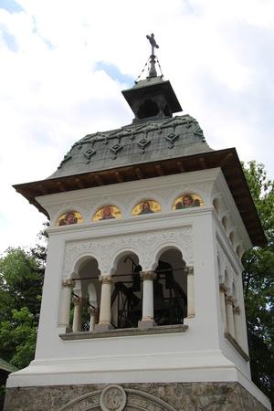 Der Glockenturm im Kloster Sinaia Lizenzfreie Bilder