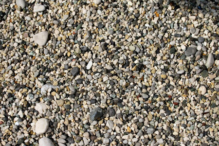 Closeup shot of gravel background  Stock Photo