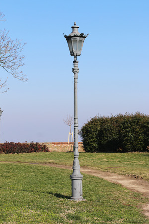 Old lamps on the Petrovaradin fortress in Novi Sad, Serbia Stock Photo