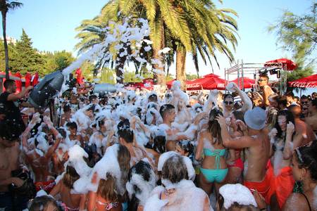 Foam Party on the beach in Montenegro.