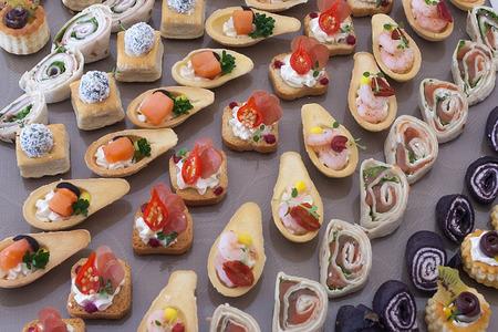 canape: cold snack canape Stock Photo