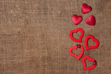 dearness: Red hearts no the textile