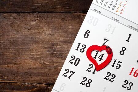 dearness: A calendar with hearts