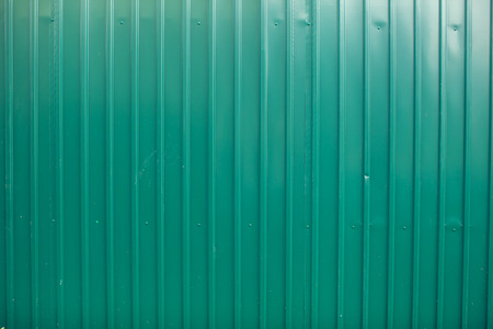 Green color metal sheet material roller gate or door with horizontal lines