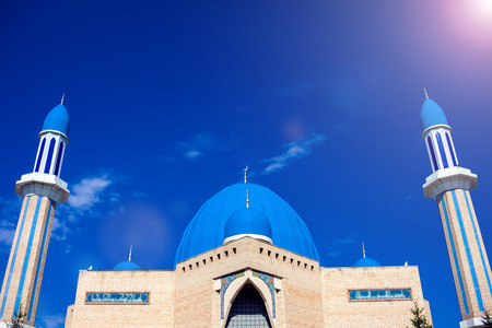 The modern mosque of Kyzyl-Zhar. Stock Photo