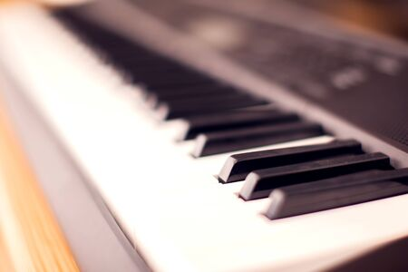 Closeup of piano keys - music and entertainment concept Stockfoto