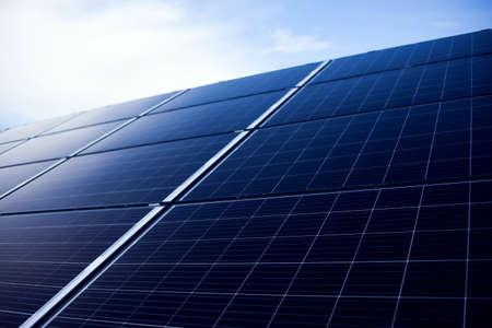 Power solar panels, alternative clean green energy concept. Environmental protection