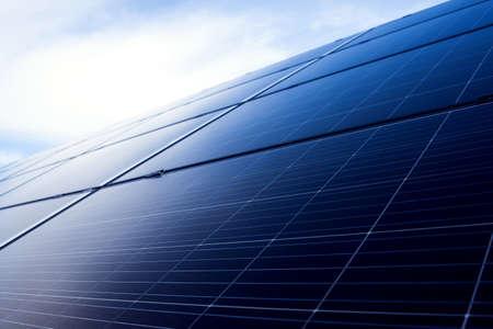 Power solar panels, alternative clean green energy concept. Environmental protection Stock fotó - 163816895