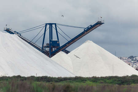 Salt mine processing and heavy production crane in Spain, Torrevieja