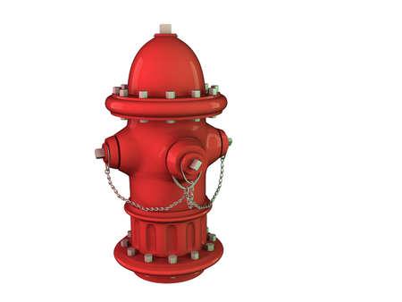 borne fontaine: Image isolée d'une bouche d'incendie