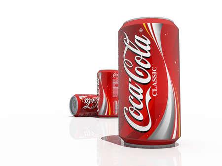 Ottawa, Ontario, November 29 2012 : Coca-Cola Soda Pop Cans Editorial License