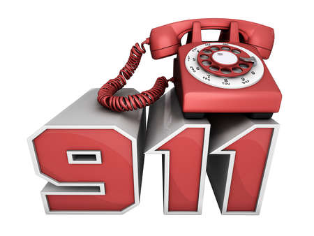 Red phone on the 911 numbers