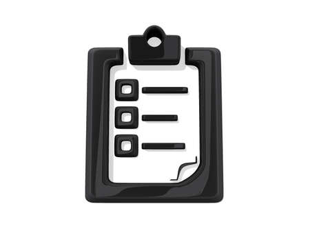 Black Clipboard Icon on a white background.