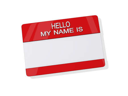 Hello My Name is Sticker on a white background. Stock Photo - 14380157